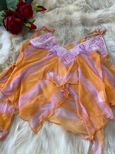 Watcher orange Camisole Top sleepwear nightwear size M