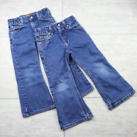 Lot of 2 Girl's Levi's 517 Flare Bootcut Adjustable Waist Blue Jeans - Size 4T