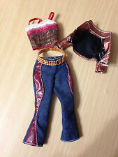 Barbie My Scene Swappin Style Madison Doll's Lace Top Burgundy Belted Capri Pant