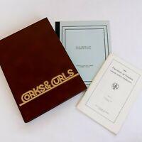 1980 University of Virginia Yearbook UVA Corks & Curls + Graduation Programs