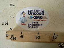 STICKER,DECAL GMX WWW.GMX.NET KEIN E-MAIL UNCOOL DEN BRIEFTAUBEN SIND OUT