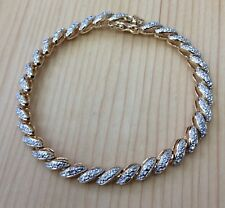 3 OF 1MM(0.015) GENUNIE DIAMOND VERMEIL BRACELET 7.5""