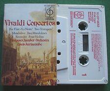 Vivaldi Concertos Flute Trumpets Mandolin Violin Auriacombe Cassette Tape TESTED