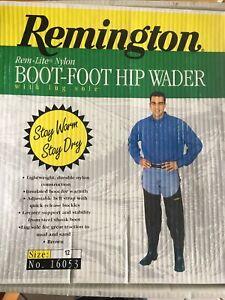 Remington Boot-Foot Hip Wader Rem-lite Nylon Mens 12 Lug Sole Insulated Steel Sh