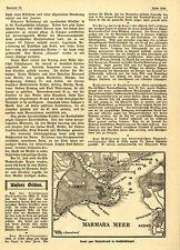 Karte + Pressemeldung zum Riesenbrand in Konstantinopel von 1911