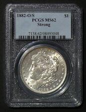1882 O/S MS-62 STRONG ERROR  Morgan Dollar **PCGS MS-620 GRADED**