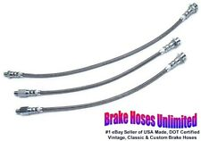 STAINLESS BRAKE HOSE SET Edsel Roundup 1958