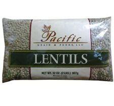 New Sealed Green Lentils / Grain Foods Always Fresh, 2lb Bag /USA Product