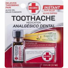 Red Cross Toothache Complete Medication Kit Instant Relief 0.13 oz (Pack of 6)