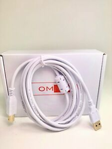OMNIHIL 8FT-White High Speed USB 2.0 Cable for Line 6 Spider V 60 MkII