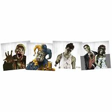 20 Mini Zombie Clown Wedding Gun Shooting Paper Target Pistol BB Range Fun NEW