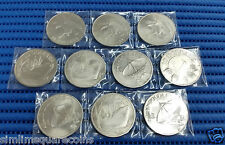 1972-1980 Singapore $10 Eagle, Ship and Satellite Silver and Nickel Coin