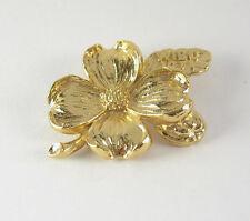 Gold Tone Metal Wibc 1971 Bowling Vintage Dogwood Flower Pin Brooch Hat Lapel