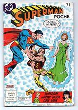 SUPERMAN POCHE N°71 adieu la terre  sagedition 1983