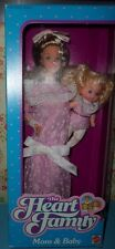 1984 Heart Family! Mom and Baby! Victorian Style Dress! Little Girl! NEW NRFB!