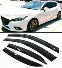 JDM MUGEN 3D STYLE SMOKED WINDOW VISOR VENT SHADE FOR 2014-2017 MAZDA 3 MAZDA3