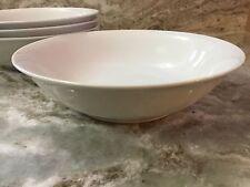 Large Pasta Bowls. Bistro Blanc. Set Of 4. White. New.