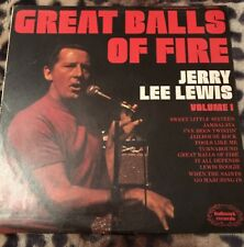 JERRY LEE LEWIS - Great Balls Of Fire - 1974 Vinyl LP - Hallmark SHM823 A1/B1 Ex