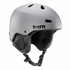 Bern Mens Macon BOA Ski Snow Helmet Matte Grey Small