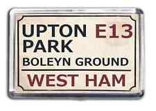 West Ham Football Fridge Magnet Print Stadium Street Sign Design Upton Park