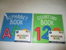 Target Bullseye PlayGround Learning School Supply alphabet & Counting Felt Books