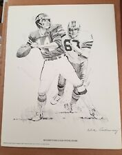 RICHARD TODD NY JETS ORIGINAL 1981 SHELL OIL 11X14 LITHOGRAPH PRINT