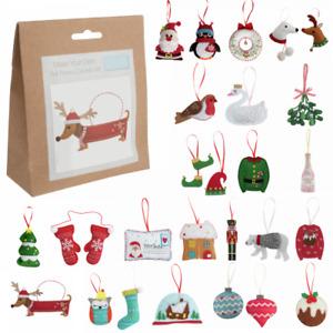 Trimits Christmas Felt Decoration Kit Sewing Craft Xmas Hanging Decoration Kid