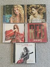 Taylor Swift CD Lot (5 Albums) RED, Speak Now, Fearless, World Tour Live CD+DVD