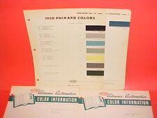 1950 PACKARD SUPER CUSTOM VICTORIA CONVERTIBLE COUPE CLUB SEDAN PAINT CHIPS +