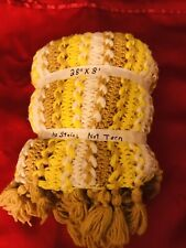 Handmade Knit Yarn Blanket Thick Bulky Knitted Throw Home Decor, Made Hand, New