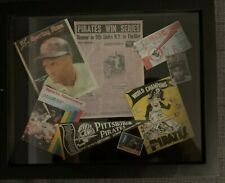 """CUSTOM"" ROBERTO CLEMENTE PITTSBURGH PIRATES CAREER SHADOW BOX #1"