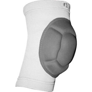 Cliff Keen The Impact Adult Knee Pad - White/Charcoal