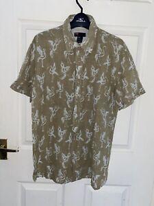 Mens Medium Diesel Shirt M 100% Cotton Rare Flamingo Miami Dreaming Birds Aviary