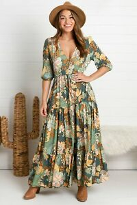 NEW Tessa - Enchanted Forest Maxi Dress Salty Crush Women Fashion Style Ladies