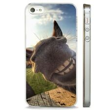 Donkey Grin Smiling Face Big Ears CLEAR PHONE CASE COVER fits iPHONE 5 6 7 8 X
