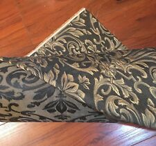 Jacquard Print Fabric Upholstery Fabric Black Gold Reversible 20 Yds Avail NEW