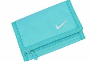Nike Unisex Tri- Fold Basic Wallet - Turquoise Blue