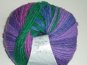 (8,50€/100g) Katia City Farbe 955 Super schöne Wolle flieder grün lila