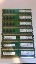 7 Crucial  1GB 240-PIN DIMM 128Mx64 DDR2 PC2 Desktop Memory