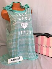 Victoria's Secret Swim~Summer Beach~Hooded Cover Up~High-Low Dress~Sz M