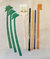Vintage Stirrers Swizzle Sticks Hawaii PALM TREES Hilton Sheraton Hotels Lot 8