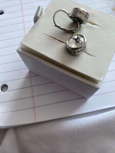 Dyrberg Kern Louise Swarovski Crystal Silver Plated Hook Drop Earrings - New