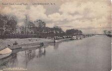 1913 Boats Grand Canal looking South Lindenhurst LI NY