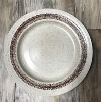 "Homespun Stonecast By Churchill England Vintage Cottage 10 1/4"" Dinner Plate"