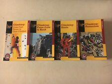 4 Rock Climbing How to Books First Knots Protection Gym Rock New Falcon Signed !
