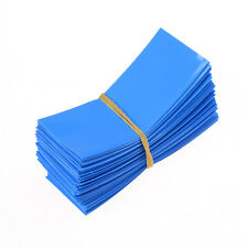100pcs 18650 Battery Wrap PVC Heat Shrink Tubing Pre-cut Precut Best UK RT