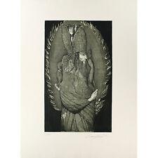 """Ernst Fuchs-une incroyable Original Gravure """"les dimensions du Adam Kadmon"""""""