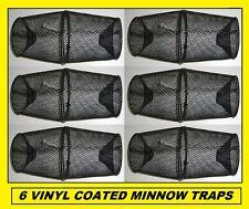 Six Vinyl Coated Metal Minnow Traps Brand New! Wholesale! 6 Traps!