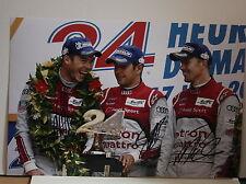"""Le Mans 24 Winners Fassler, Lotterer, Treluyer Audi Hand Signed Photo 12x18"""" C"""