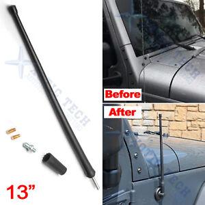 "13"" Radio Antenna Mast For Jeep Wrangler TJ JK JL JKU Rubicon Sahara 1997-2020"